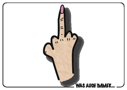 Ausgestreckter Mittelfinger
